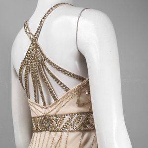 Sue Wong Dresses - Sue Wong Multi Back Strap Beaded Empire Dr…